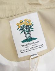 【BED&BREAKFAST】ベッドアンドブレックファスト/Standard Long Trench Coat