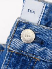 【SEA】シー/VINTAGE 818H ハイライズパッチポケットフレアデニムパンツ