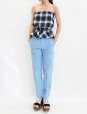【me&me couture】ミークチュール/コットンロングパンツ