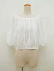【cher】Beautifully Unruly/COTTON CHIFFON ブラウス