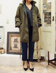 【Me&Me couture】ミー&ミークチュール/オーバーミリタリーコート