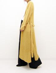 【Me&Me couture】ミー&ミークチュール/ミニループロングニットカーデ