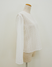 【GREED】グリード/STRIPE EMBROIDERY BLOUSE