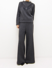 【GREED】グリード/CASHMERE WAFFLE FLARED PANTS