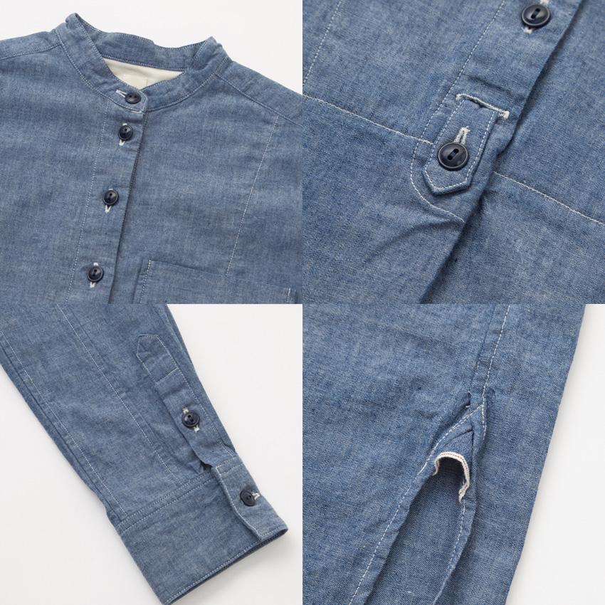 SEAシー2018w 予約商品VINTAGE オーガニックシャンブレーオーバーグランパシャツドレス詳細1