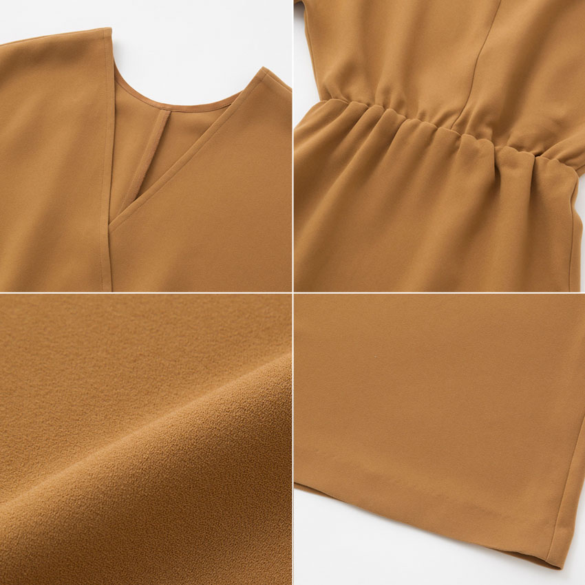 SEAシー2019 予約商品 ダブルフェイス ジョーゼット ドレス