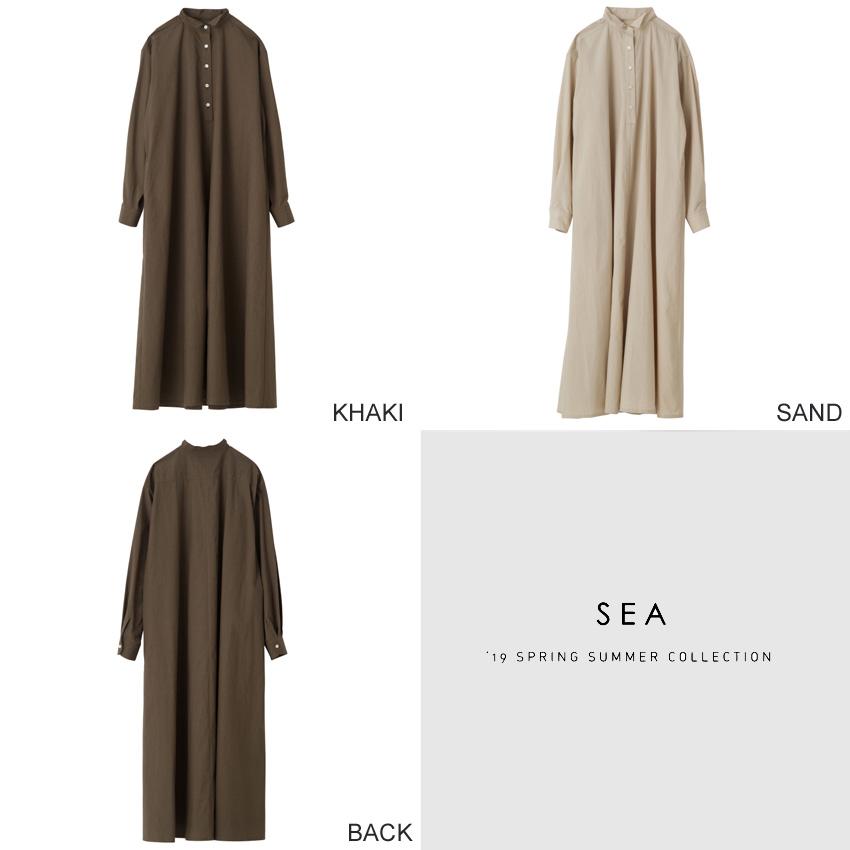 SEA_タイプライタースタンドカラーシャツドレス1