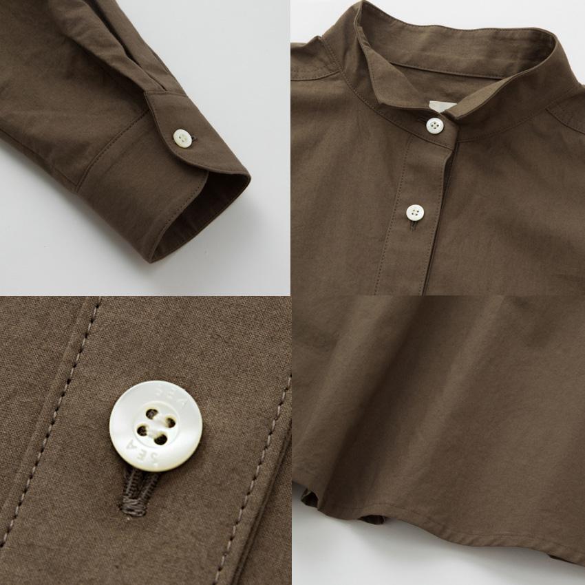 SEA_タイプライタースタンドカラーシャツドレス2