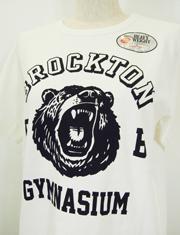 【BROCKTON GYMNASIUM】ブロックトンジムネイジアム/Set-in Sleeve Tee with Bear